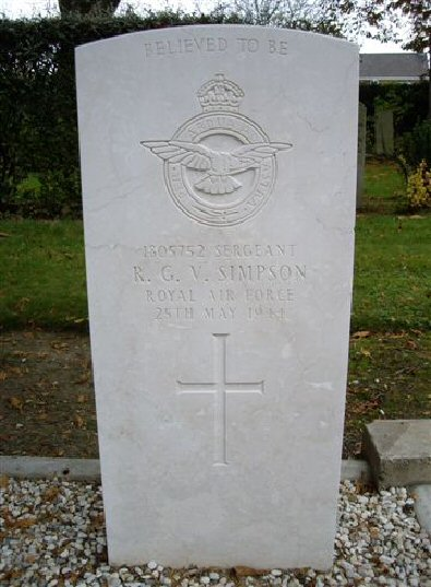 Sgt Raymond George Victor 'Ray' Simpson, 1805752, Mid Upper Gunner, ...